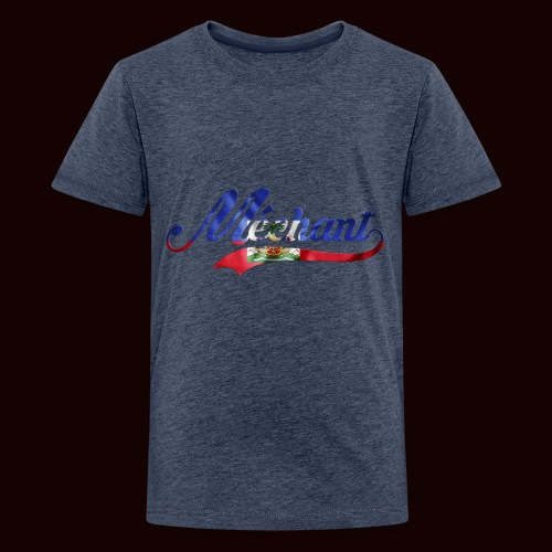 méchant drapeau haïtien - T-shirt Premium Ado