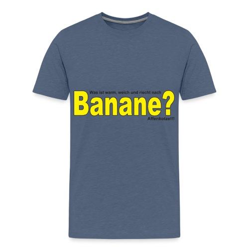 Was ist warm weich und riecht nach Banane? - Teenager Premium T-Shirt
