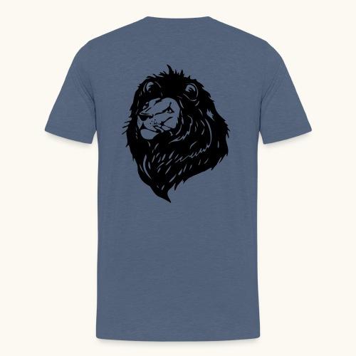 Lions tête fièrement élevés avec crinière noire - T-shirt Premium Ado