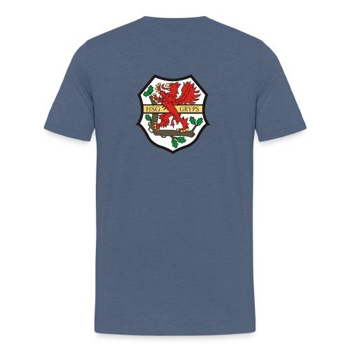 HSG Logo Rücken groß - Teenager Premium T-Shirt