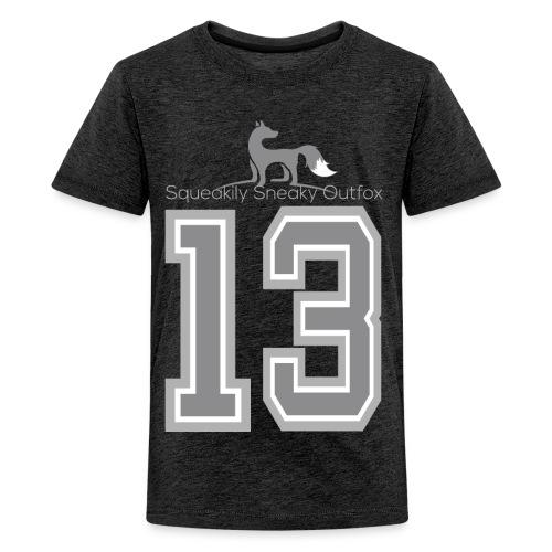 Grey sneaky fox - Teenager premium T-shirt