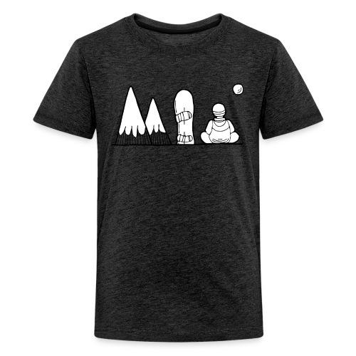 snowboard et montagnes - T-shirt Premium Ado