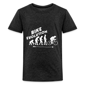Bike Evolution (WHITE) - Teenager Premium T-Shirt