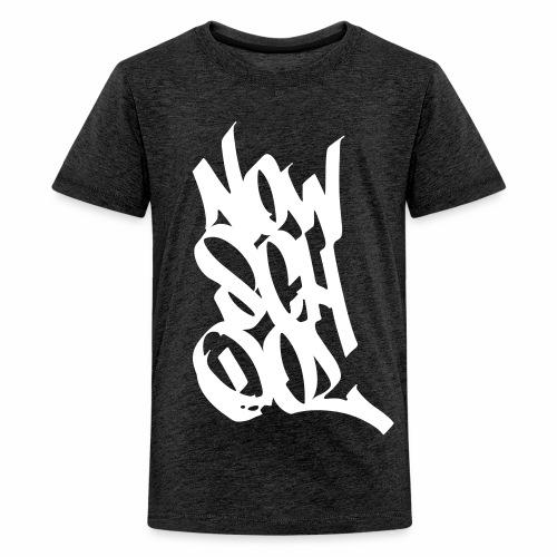 NowSchOol Marker Design (White) - Teenage Premium T-Shirt