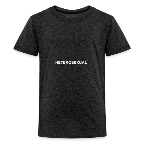 HETEROSEXUAL BLACK - Teenager Premium T-Shirt