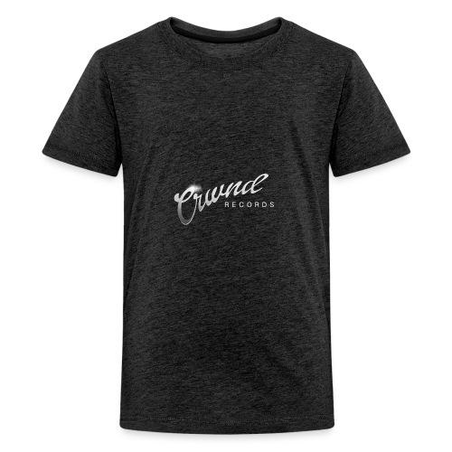 Crwnd Logo Paste - Teenage Premium T-Shirt