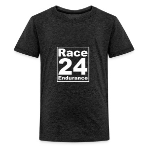 Race24 Logo - White - Teenage Premium T-Shirt