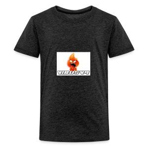 Virusv9 Weiss - Teenager Premium T-Shirt