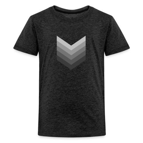 Chevrons gris - T-shirt Premium Ado