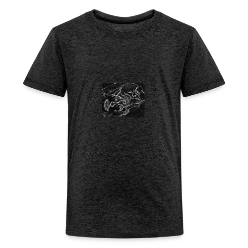 Hund mit Katze - Teenager Premium T-Shirt