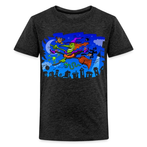 Crazy Witch - Teenage Premium T-Shirt
