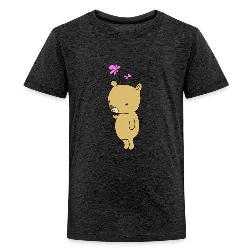 Baby Bär mit Blume - Teenager Premium T-Shirt