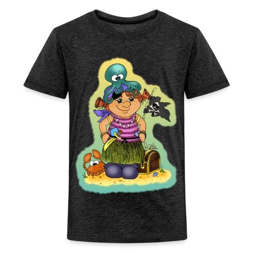 Ahoi nech, kloine Piroaaadin - Teenager Premium T-Shirt