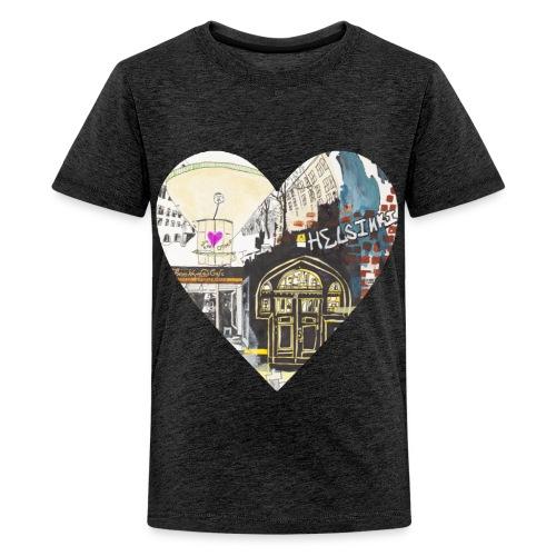 helsinkiheart png - Teenage Premium T-Shirt
