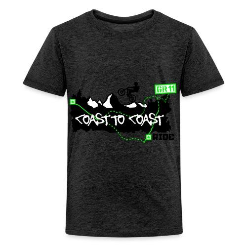Coast to Coast Ride - Teenager Premium T-Shirt