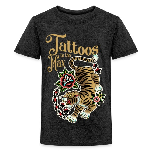 Tattoos to the Max - Tiger Unchained - Teenager Premium T-Shirt