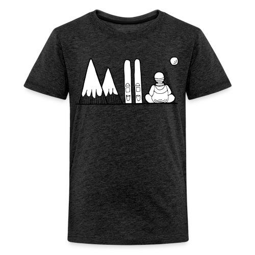ski et montagnes - T-shirt Premium Ado