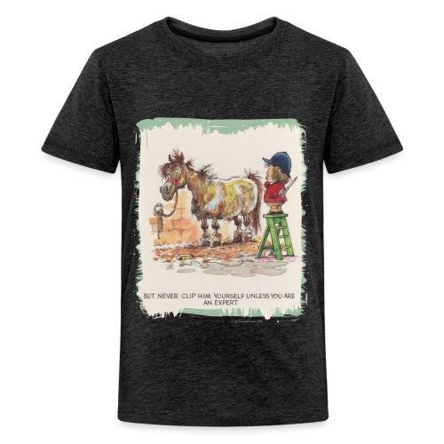 Thelwell Cartoon Pony beim Friseur - Teenager Premium T-Shirt