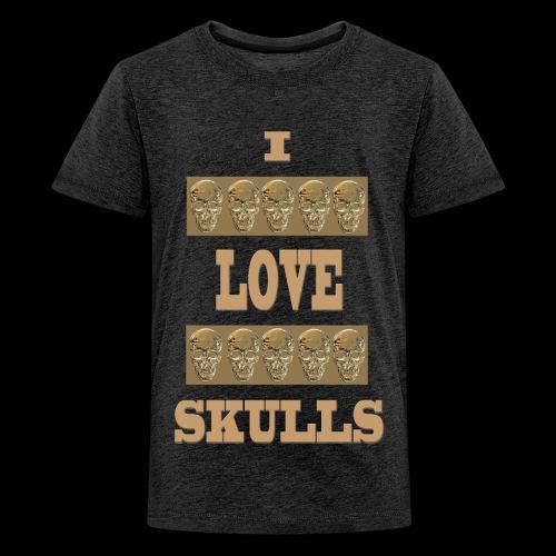 J'AIME LES TÊTES DE MORT - T-shirt Premium Ado