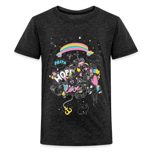 FHL Wimmelshirt VAR2 neg - Teenager Premium T-Shirt