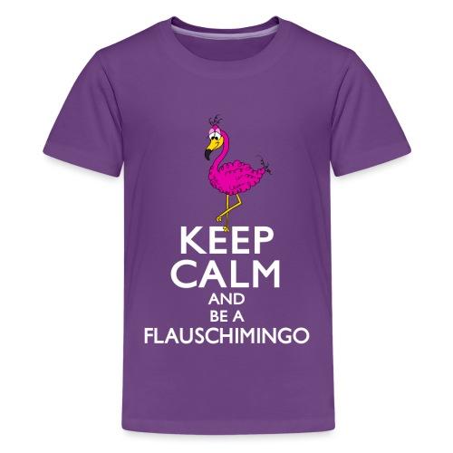 Keep calm and be a Flauschimingo - Teenager Premium T-Shirt