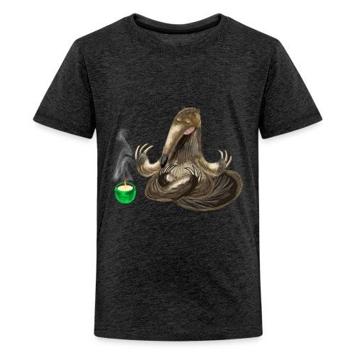 Meditating Ant eater design / print - Teenage Premium T-Shirt