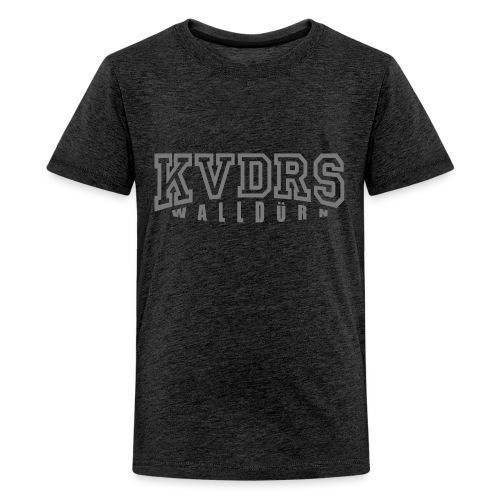 Logo gross Hintergrund dunkel - Teenager Premium T-Shirt