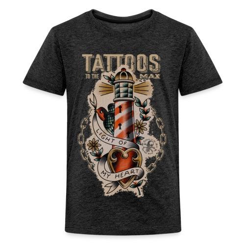 Lighthouse Leuchtturm Tattoos to the Max - Teenager Premium T-Shirt