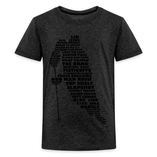 Language of Hockey (Black) - Teenage Premium T-Shirt