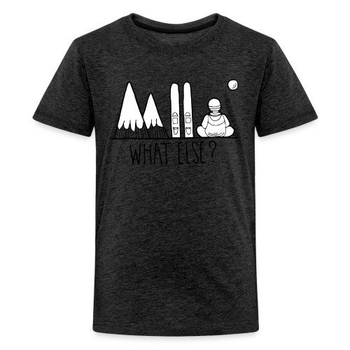 ski et montagnes what else - T-shirt Premium Ado