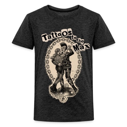 Punk Couple Dancing Tatttoos to the Max - Teenager Premium T-Shirt