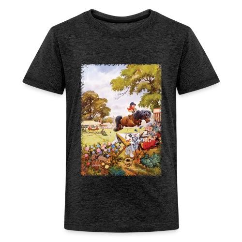 Thelwell Cartoon Pony Turnier - Teenager Premium T-Shirt