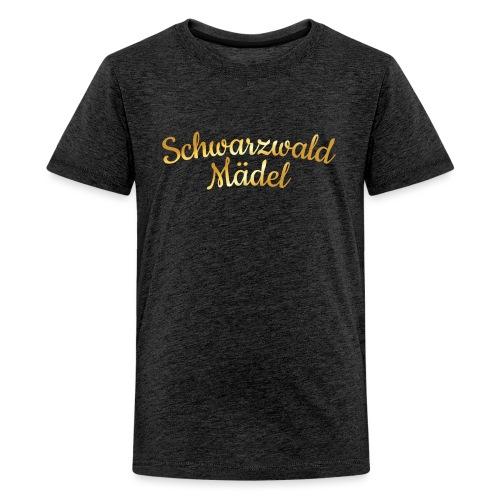 Schwarzwald Mädel (Goldgelb) - Teenager Premium T-Shirt