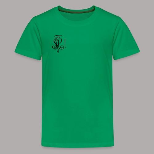 Zirkel, schwarz (vorne) - Teenager Premium T-Shirt