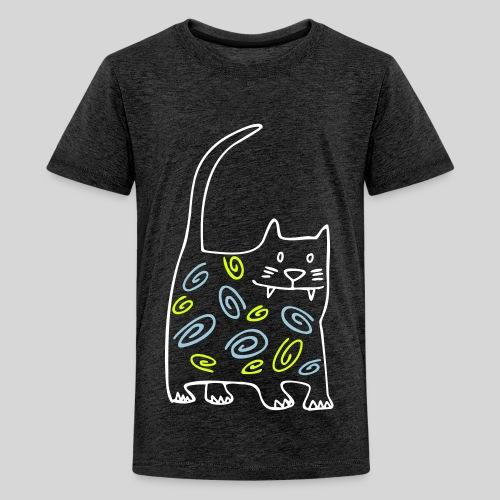 schöne dicke katze - Teenager Premium T-Shirt