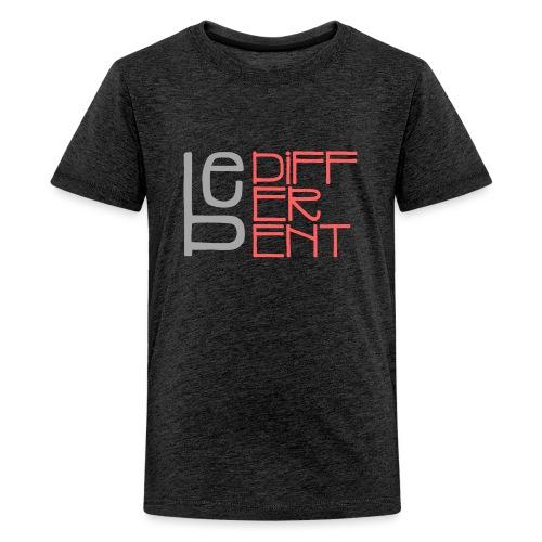 Be different - Fun Spruch Statement Sprüche Design - Teenager Premium T-Shirt