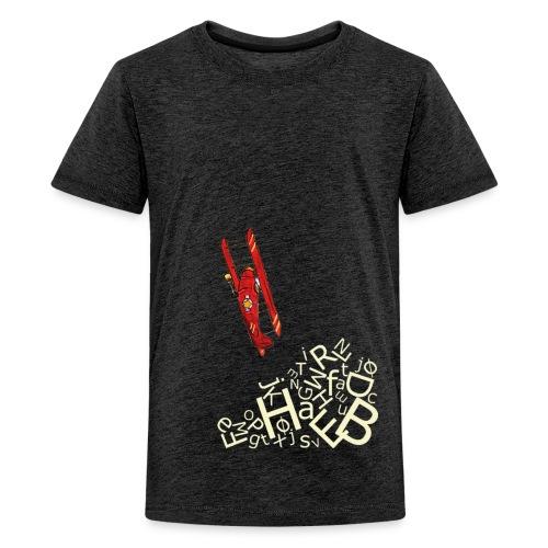 bogstavbunke gul - Teenage Premium T-Shirt