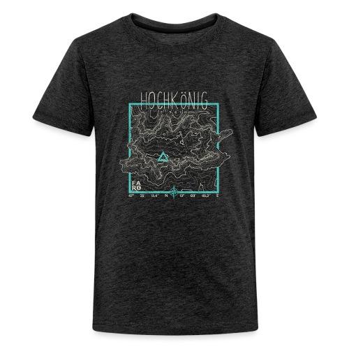 Hochkoenig Contour Lines - Square - Teenage Premium T-Shirt