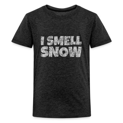 I Smell Snow (Grau) Schnee, Winter, Wintersport - Teenager Premium T-Shirt