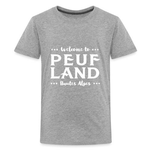 Peuf Land 05 - Hautes-Alpes - White - T-shirt Premium Ado