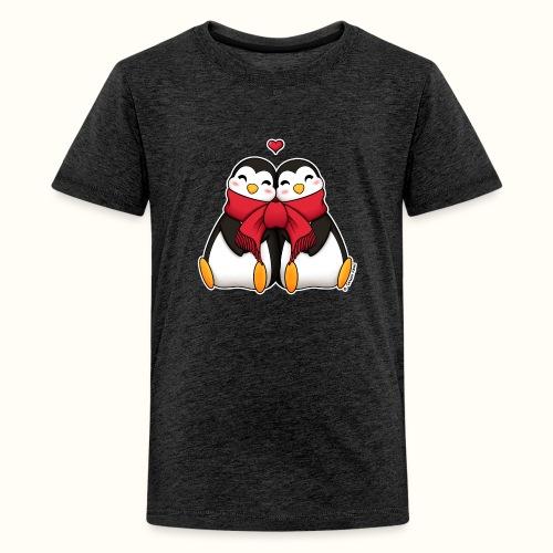 Pinguini innamorati - Maglietta Premium per ragazzi