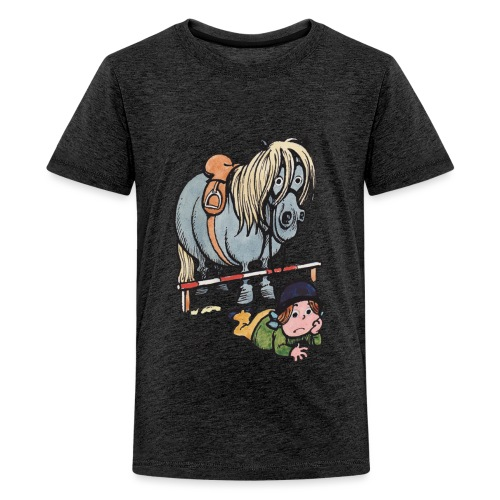 Thelwell Funny Showjumping Gone Wrong - Teenage Premium T-Shirt
