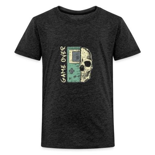 Game over Gaming Spruch Outfit für Zocker Gamer - Teenager Premium T-Shirt