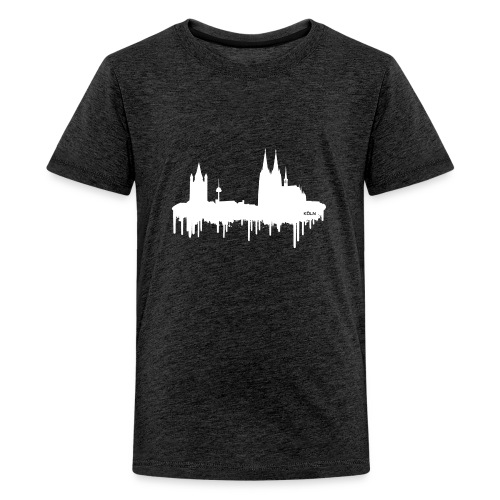 Skyline Köln - Weiß - Teenager Premium T-Shirt