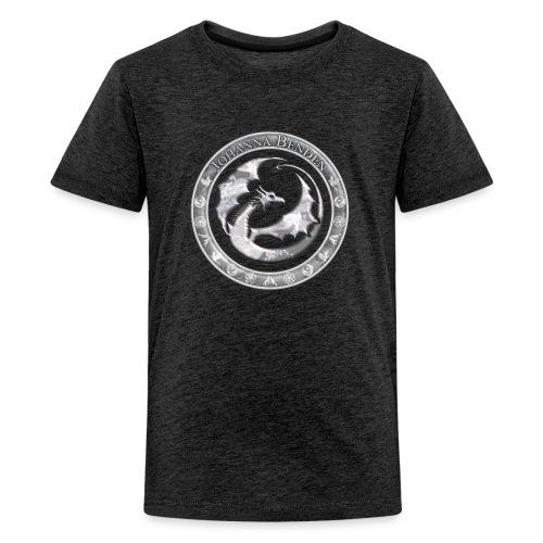 Drachenlogo Silberweiß - Teenager Premium T-Shirt