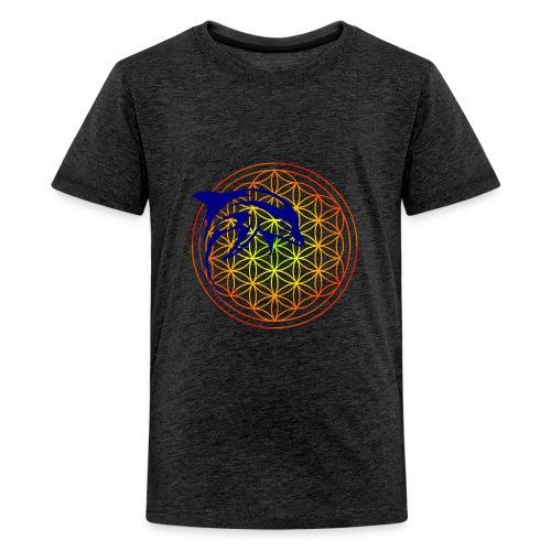 fleur de vie dauphin - T-shirt Premium Ado