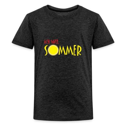 Ich will Sommer - Teenager Premium T-Shirt