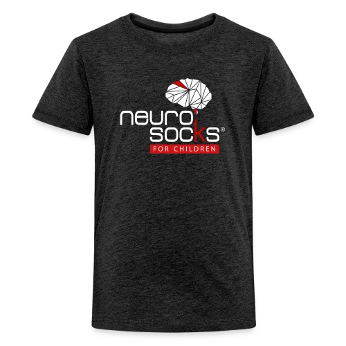 NeuroSocks for Children | Weiß-Rot - Teenager Premium T-Shirt