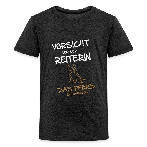 Vorschau: Vorsicht vor der Reiterin - Teenager Premium T-Shirt
