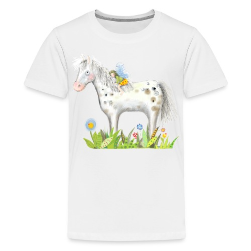 Fee. Das Pferd und die kleine Reiterin. - Teenager Premium T-Shirt